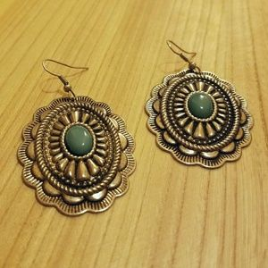 Native American-inspired earrings Faux Turquoise